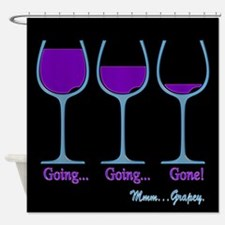 Wine Going Gone Grapey 3D Shower Curtain
