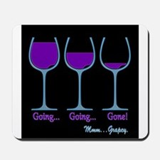 Wine Going Gone Grapey 3D Mousepad