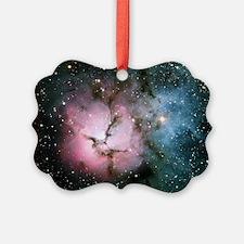 Nebula galaxy of stars in space h Ornament