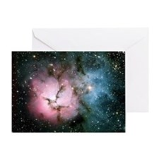 Nebula galaxy of stars in space hips Greeting Card