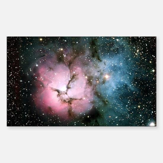 Nebula galaxy of stars in spac Sticker (Rectangle)