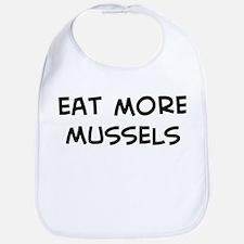 Eat more Mussels Bib