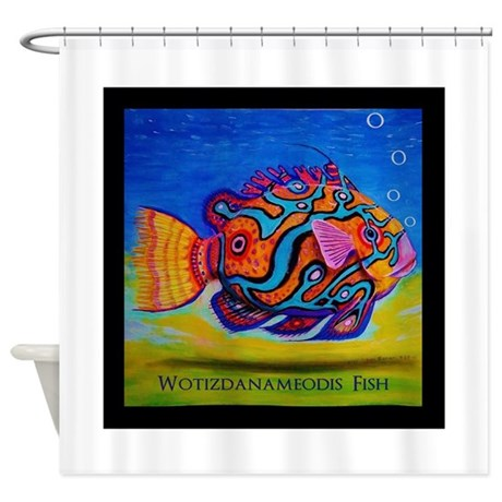 Tropical fish shower curtain by tropicalfish2 for Tropical fish shower curtain