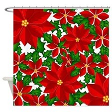 Poinsettias Shower Curtain