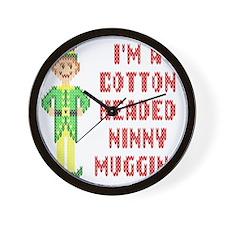 Funny Cotton Headed Ninny Muggins Elf Wall Clock