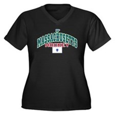 MA Hockey Women's Plus Size V-Neck Dark T-Shirt