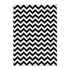 Black and White ZigZag 5'x7'Area Rug