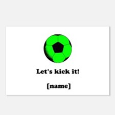 Personalized Lets Kick It! - GREEN Postcards (Pack