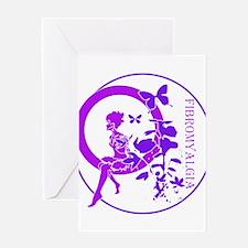 CLEAR FAIRY-FIBROMYALGIA Greeting Cards
