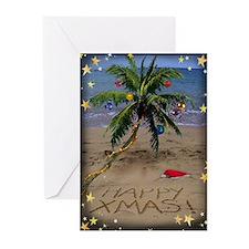 Greeting Cards (Pk Of 10) Tropical Christmas Greet