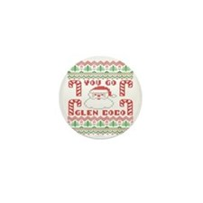 Glen Coco Candy Cane Christmas Sweater Mini Button
