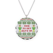 Ugly Christmas Sweater Time  Necklace