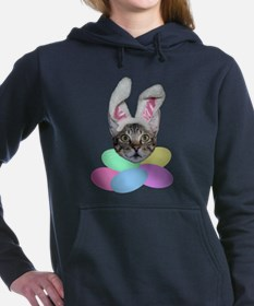 Easter Cat With Easter Eggs Hooded Sweatshirt