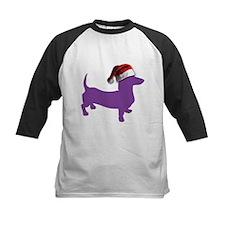 Christmas Purple Dachshund Baseball Jersey