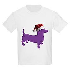 Christmas Purple Dachshund T-Shirt