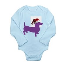 Christmas Purple Dachshund Body Suit