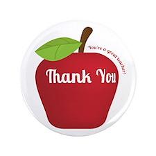 """Great Teacher, Red Teacher Appreciation Apple 3.5"""""""