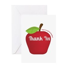 Great Teacher, Red Teacher Appreciation Apple Gree