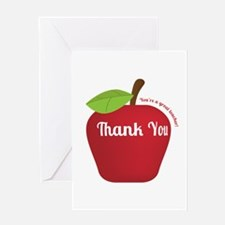 Great Teacher, Red Teacher Appreciation Apple Gree