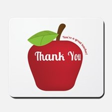 Great Teacher, Red Teacher Appreciation Apple Mous