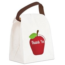 Great Teacher, Red Teacher Appreciation Apple Canv