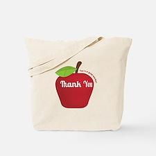 Great Teacher, Red Teacher Appreciation Apple Tote