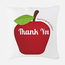 Great Teacher, Red Teacher Appreciation Apple Wove
