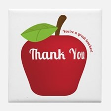 Great Teacher, Red Teacher Appreciation Apple Tile