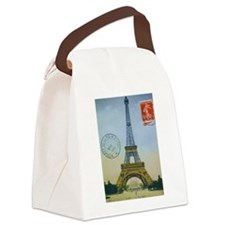 VINTAGE EIFFEL TOWER Canvas Lunch Bag
