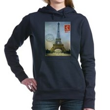 VINTAGE EIFFEL TOWER Women's Hooded Sweatshirt