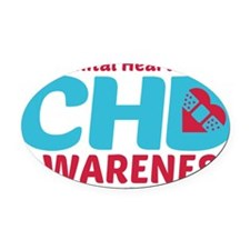 CHD Awareness Oval Car Magnet