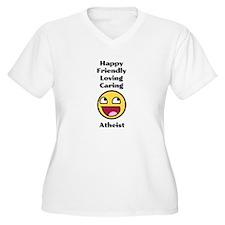 Happy Friendly Atheist Plus Size T-Shirt