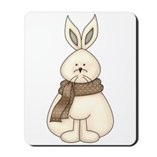 White Hare Mousepad