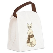 White Hare Canvas Lunch Bag