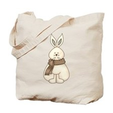 White Hare Tote Bag