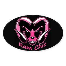 Pink Ram It Stickers