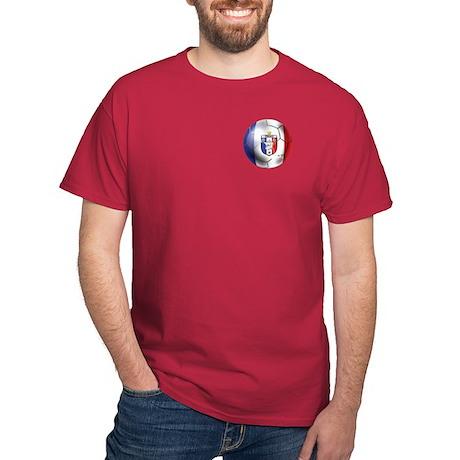 French Soccer Ball Dark T-Shirt