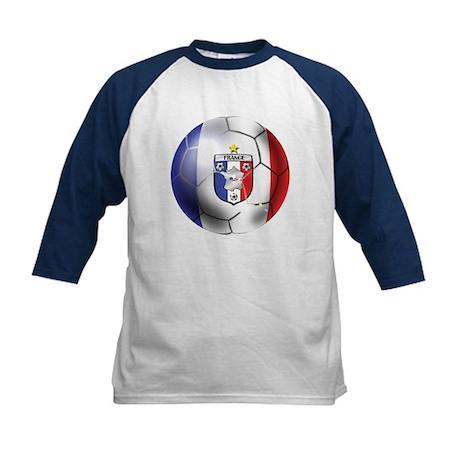French Soccer Ball Kids Baseball Jersey