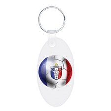 French Soccer Ball Keychains