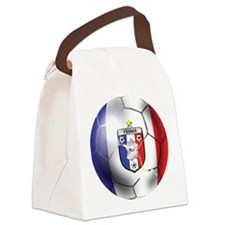 French Soccer Ball Canvas Lunch Bag
