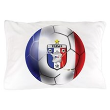 French Soccer Ball Pillow Case