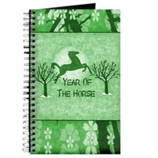 Green Horse And Moon Journal