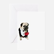 Love Pug Greeting Cards (Pk of 10)