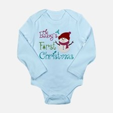 Adorable Babys First Christmas Long Sleeve Infant