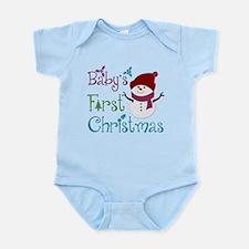 Adorable Babys First Christmas Infant Bodysuit
