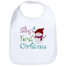 Adorable Babys First Christmas Bib