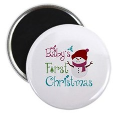 Adorable Babys First Christmas Magnet