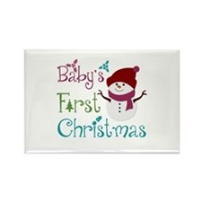 Adorable Babys First Christmas Rectangle Magnet