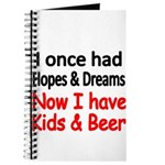 I once had HOPES DREAMS..Now I have Kids beer Jour