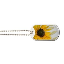 Sunflower with Wild Oats Dog Tags
